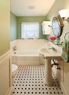 This bathroom was remodeled to match the 1930's home character. Click here to see more: http://www.powellconstruction.com/portfolio/1930-s-classic-bath Divine Paint