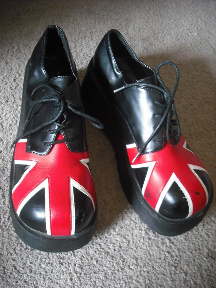 Union Jack shoes. $20.00, via Etsy.