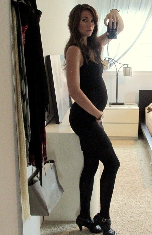 Little Black Dress 4 Months Pregnant Maternity Style