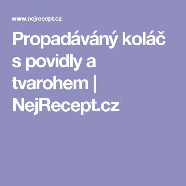 Propadáváný koláč s povidly a tvarohem   NejRecept.cz