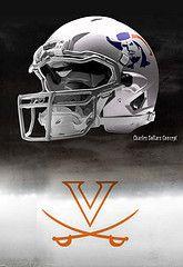 Virginia football helmets #virginia
