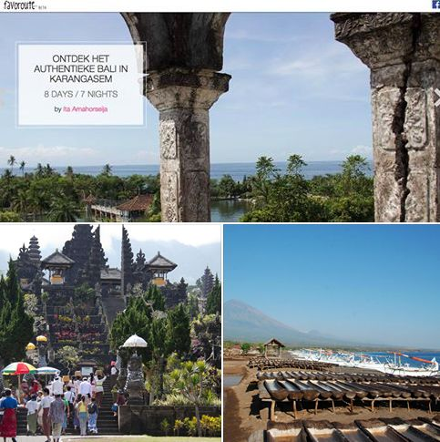 """""""Discover the vast rice paddies, forests, mountains, and ever changing beaches of Eastern Bali!"""" Find this guide 'Discover the authentic Bali in Karangasem' by Ita Amahorseija here: https://www.favoroute.com/favoroute/333"""
