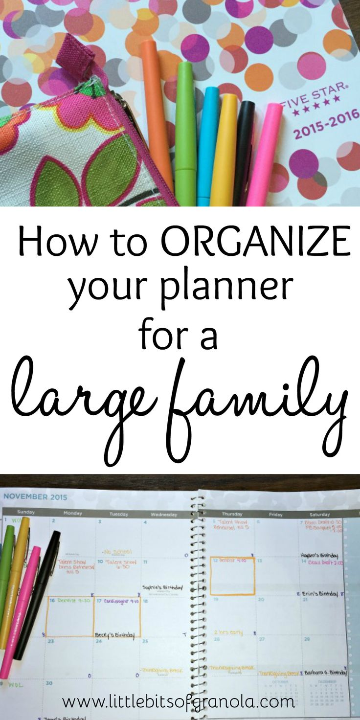 These tips for organizing your planner are AWESOME. And they can be used for families of all sizes.