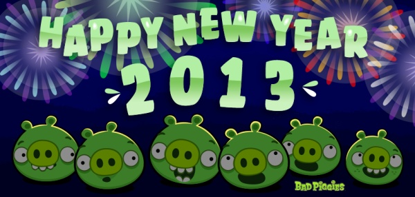 Happy New Year From The Pigs! | Bad Piggies | Pinterest ...