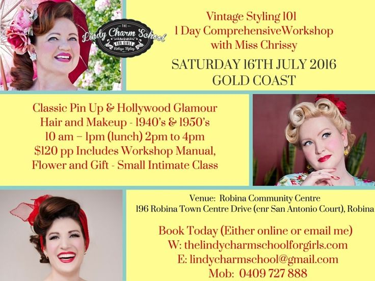 Gold Coast Vintage Styling Workshop - Saturday 16th of July 2016