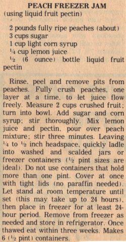 Peach Freezer Jam Recipe – Clipping