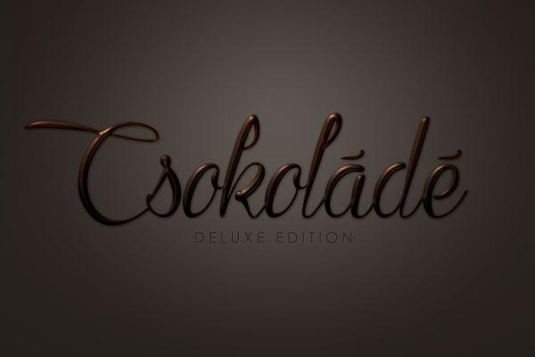 Csokoládé szöveg effekt