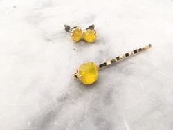 yellow opal stone jewelry set