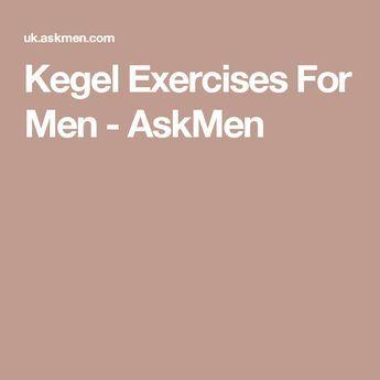 Kegel Exercises For Men - AskMen