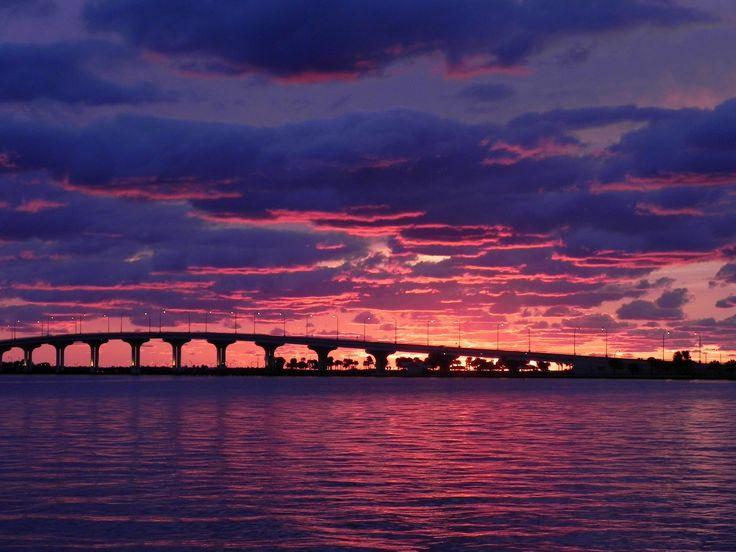 puente, playa, atardecer, cielo, rosa, morado, 1703260828