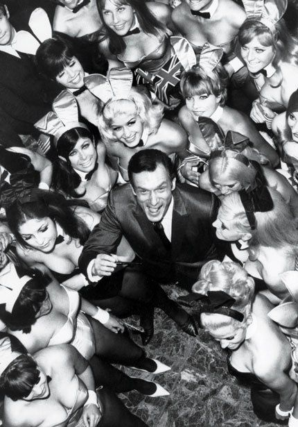 Hefner promoting the London Playboy Club, 1966.