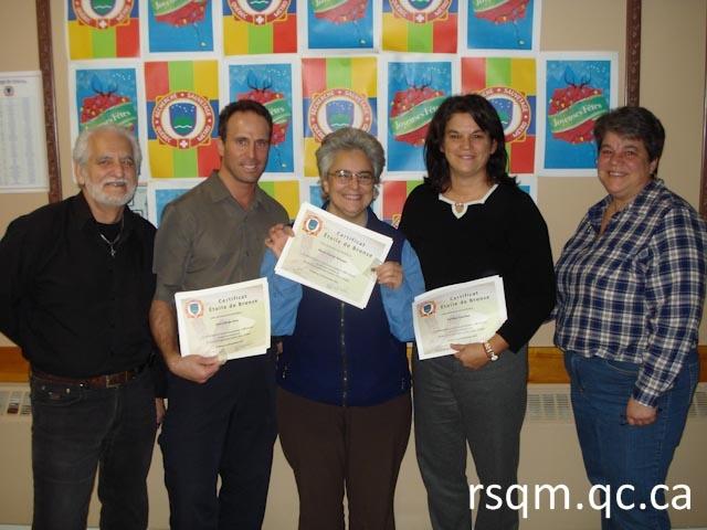 Party de Noël RSQM novembre 2013 - certificat 10 recherches cumulatives
