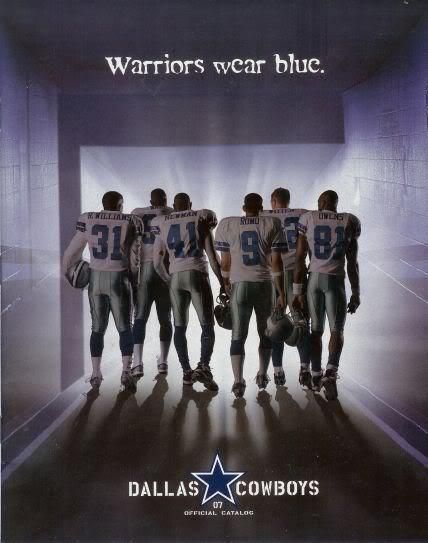Dallas Cowboys Warriors wear BLUE