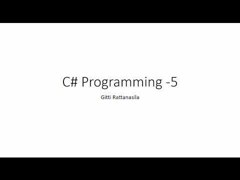 C#5 - YouTube