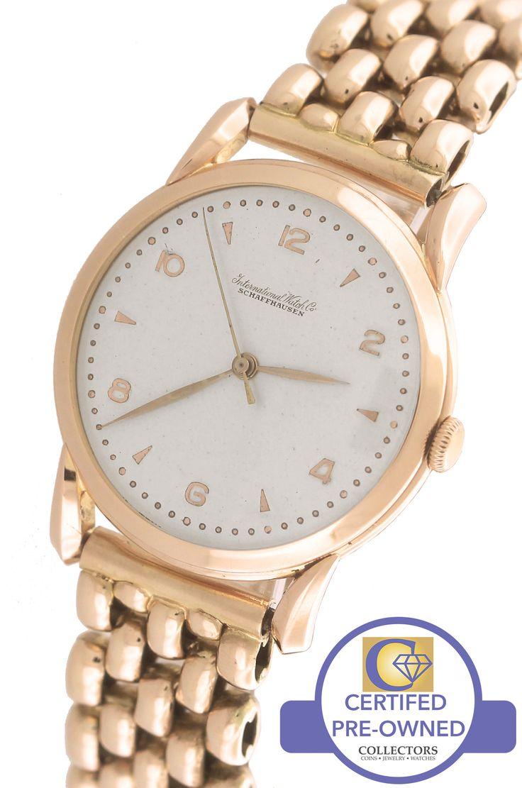 Men's Vintage IWC Schauffhausen Cal. 89 Silver Arabic 18K Rose Gold 36mm Watch