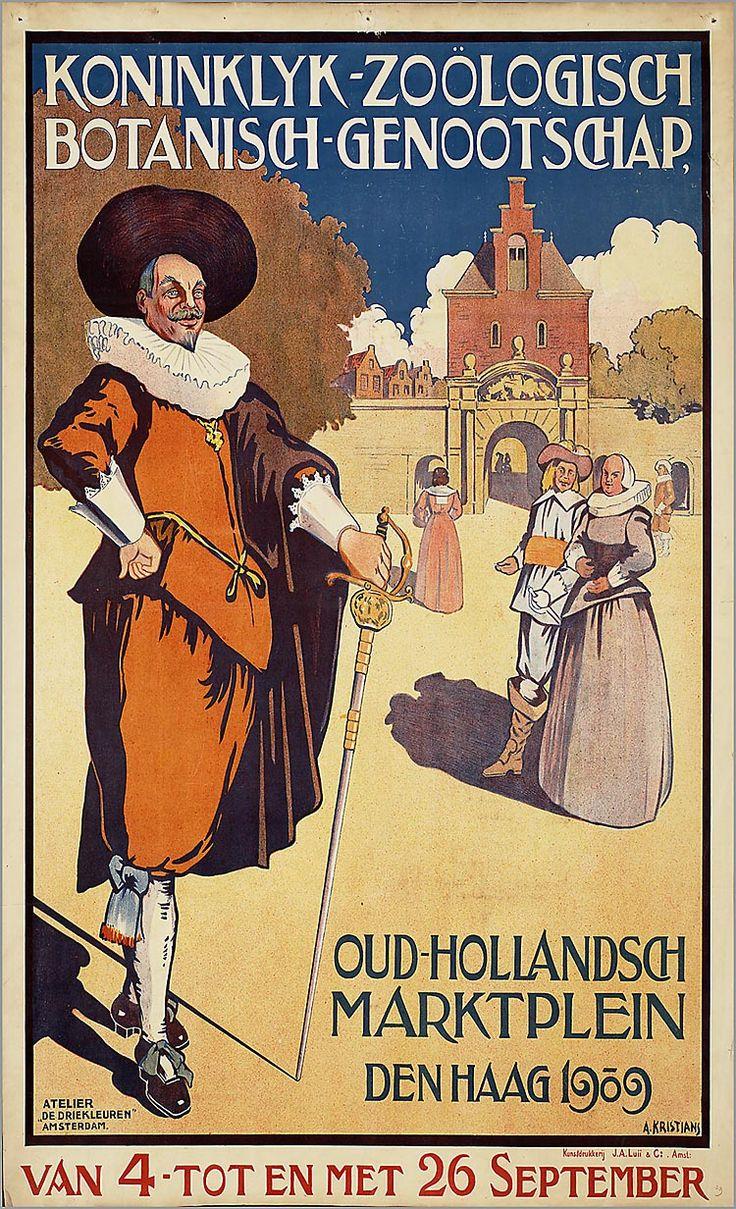 Oud-Hollandsch marktplein, Den Haag 1909, van 4 tot en met 26 September Copyright: voor informatie: ReclameArsenaal