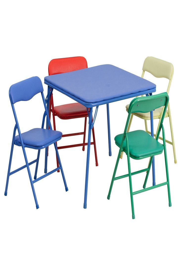 46 00 Flash Furniture Kids Colorful 5 Piece Folding Table And Chair Set Jb 9 Kid Gg