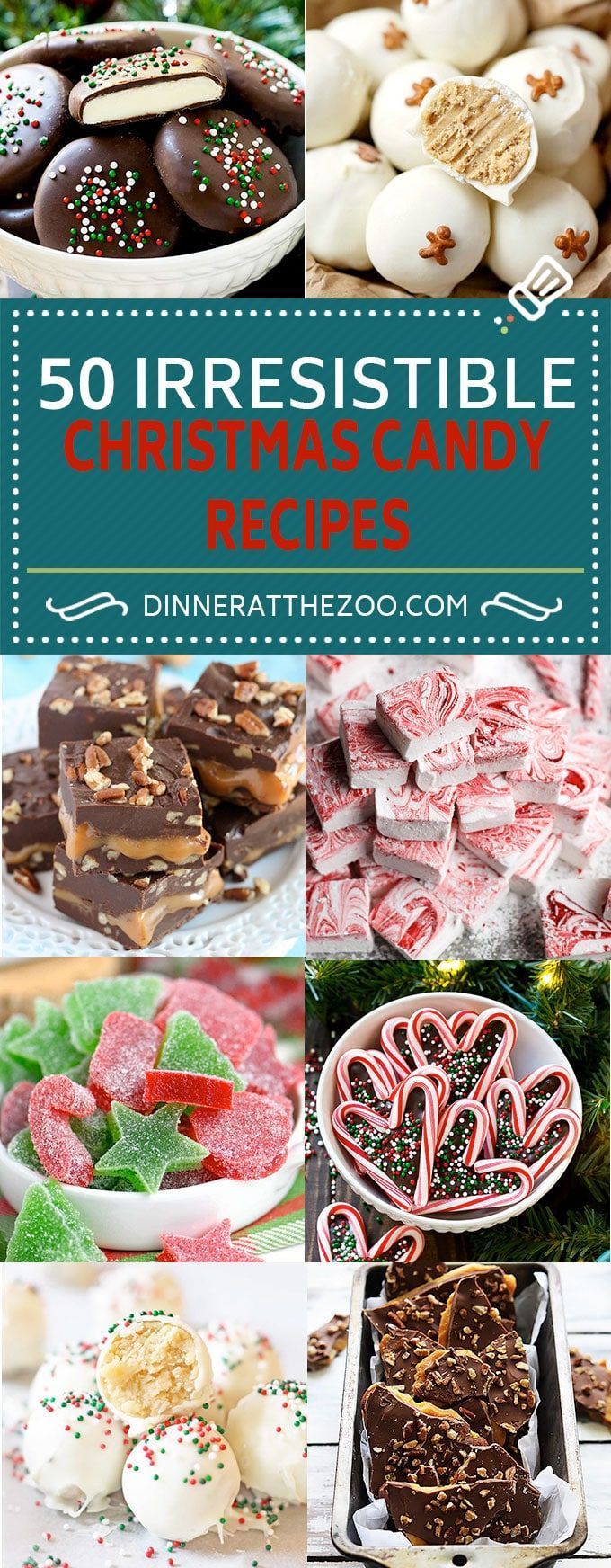 50 Irresistible Christmas Candy Recipes | Candy Recipes | Fudge Recipes | Truffle Recipes | Caramel Recipes
