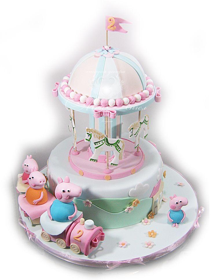 "Carusel Peppa cake. Торт ""Карусель + Свинка  Пеппа."