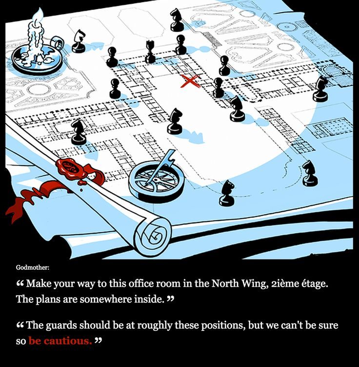 Illustrated Twine used for Secret Agent Cinder.