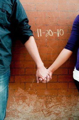 wedding photoshoot idea—Laura: cute idea for a Save the Date, no?
