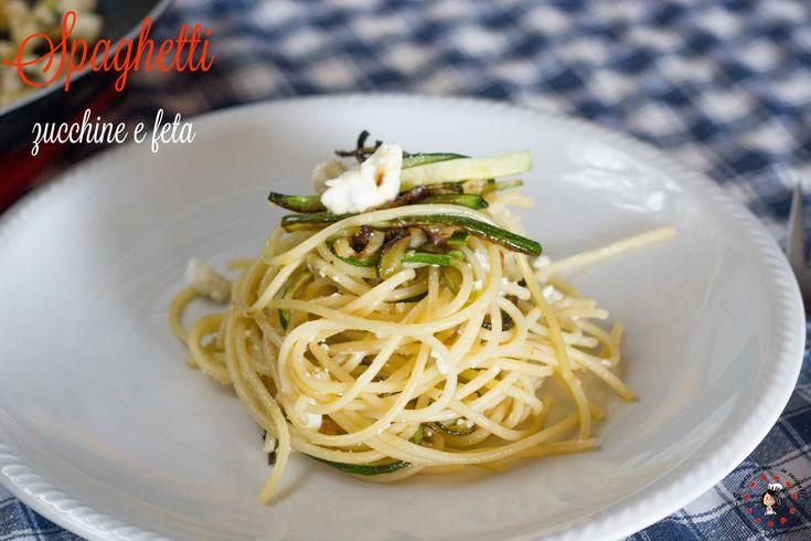 Spaghetti+zucchine+e+feta