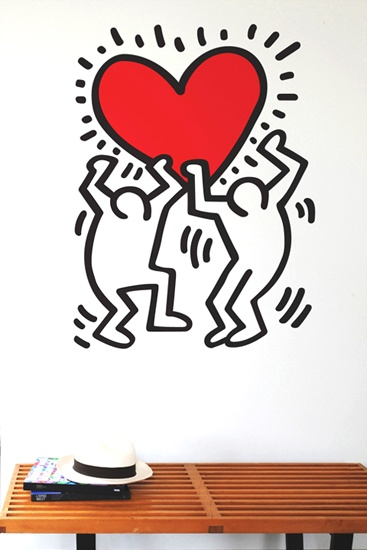 Sticker Dancing Heart Keith Haring Part 96