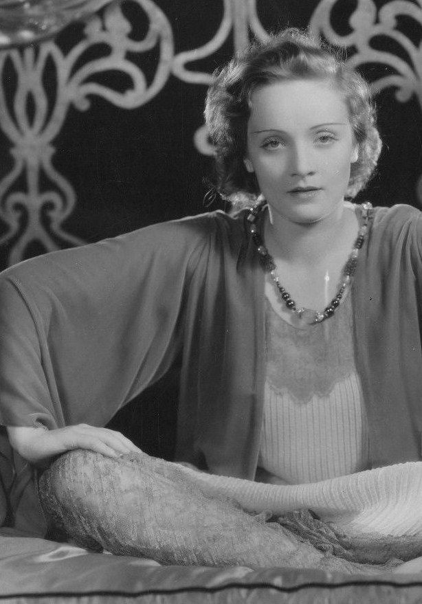 A pre-makeover baby faced Marlene Dietrich