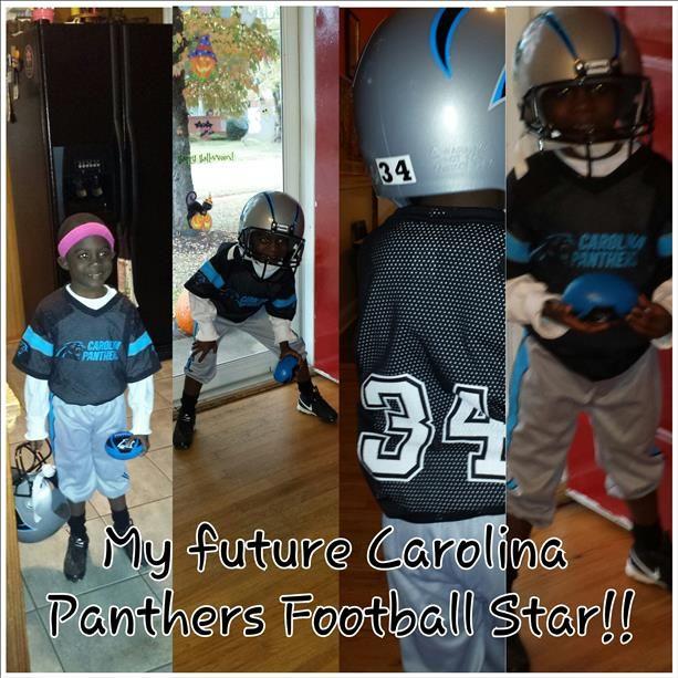 "Kam ""Newton"" B. 4 year old Panthers player."