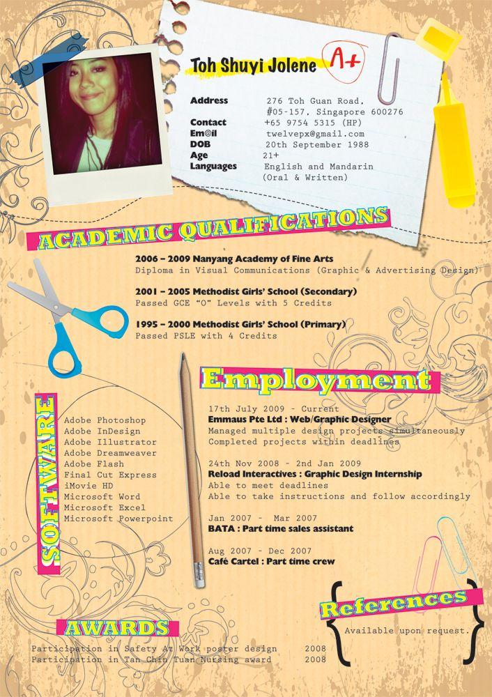 92 best ideas curriculum images on Pinterest Resume, Creative - graphic artist resume