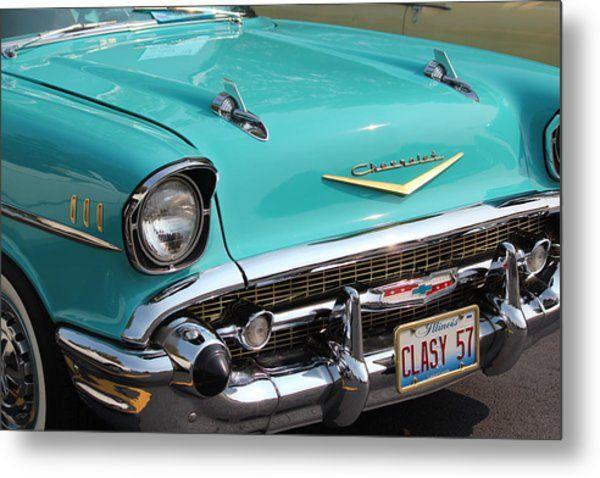 1957 Chevy Metal Print By Rosanne Jordan Chevrolet Chevy Classic Cars