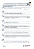 #Arbeitsblaetter / #Aufgaben / #Uebungen zum Vertiefen der #Flaechenberechung #Parallelogramm im Mathematik - Unterricht.  40 leichte bis mittelschwere Textaufgaben zur Flächenberechnung Parallelogramm.  5 Übungsblätter + 6 Lösungsblätter mit ausführlichen Lösungswegen.