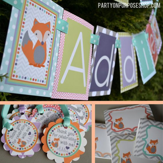 Fox Birthday Party Decorations Package - Fox Party