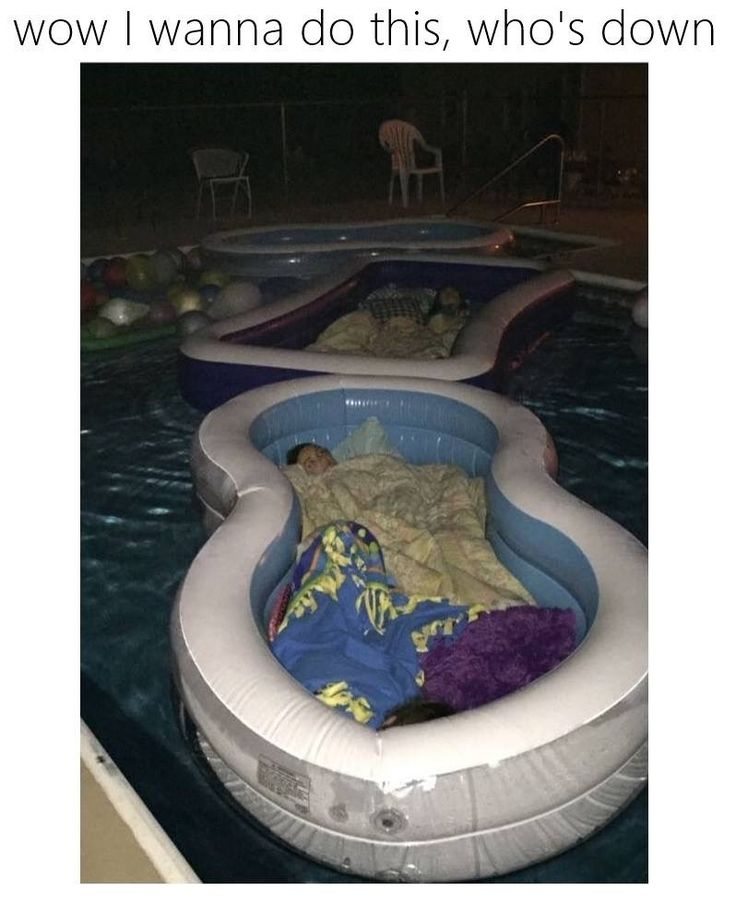 Makeshift waterbeds -- would be fun to star up at the stars in one of these