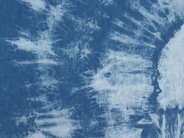 Jeansstoff leicht, Batik