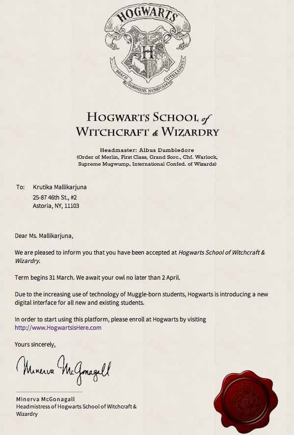 Hogwarts Acceptance Letter Template Microsoft Word   Benialgebra Inc   Hogwarts  Acceptance Letter