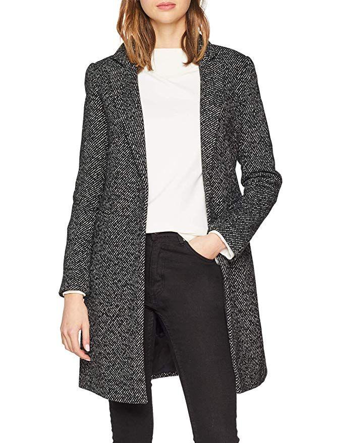 cappotto donna grigio e beige