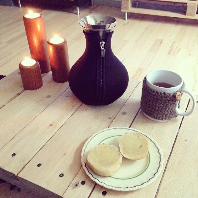 Tea Meker Neopren ceketli çay demliği ile ...