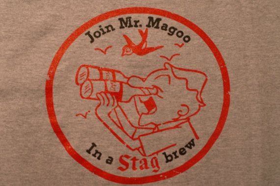 Vintage Stag Beer Mr. Magoo TShirt  1958 by 107graphics on Etsy, $18.00