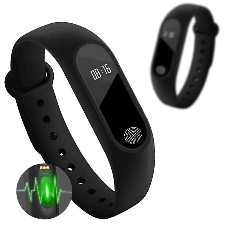 IP67 Tahan Air Pintar Wristband M2 Bluetooth Cerdas Heart Rate Tidur monitor gelang pintar untuk ios android tidak xiaomi mi band 2