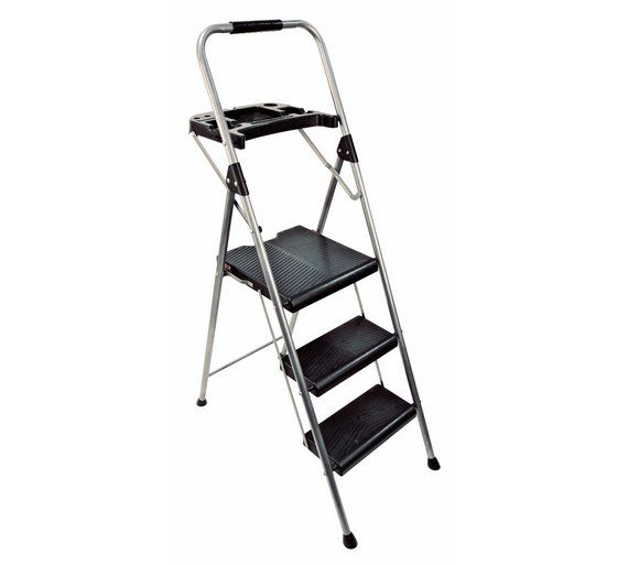 Buy Abru 3 Step Steel Ladder And Tool Tray 2.48M Max. *SWH at Argos.co.uk, visit Argos.co.uk to shop online for Ladders and step stools, DIY tools and power tools, Home and garden