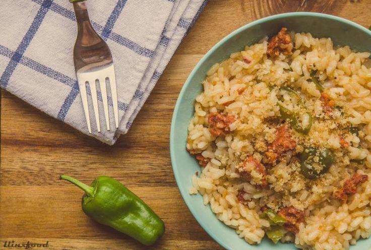 ¡Arroz con jijas, pimientos de padrón y tierruca de picatoste con sal de setas!   llinxfood