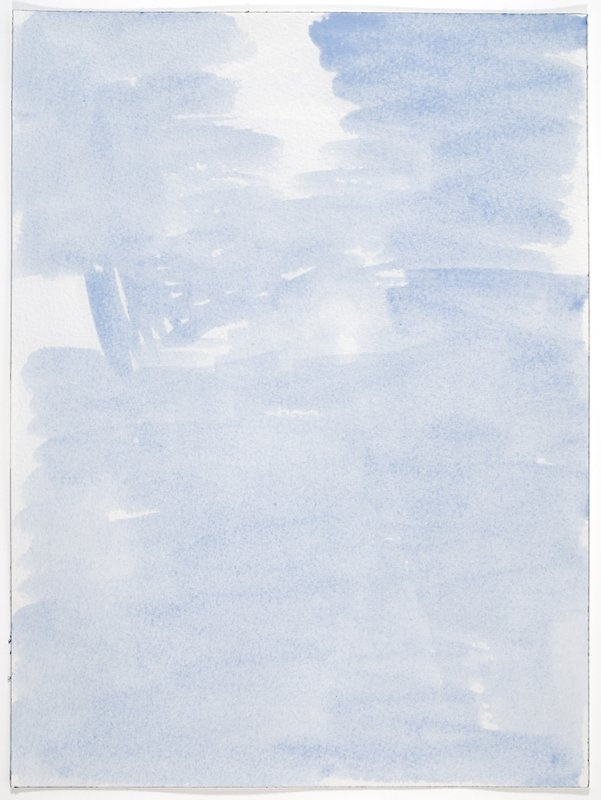 John Zurier In a new summer 6/i, 2012br /watercolor on paperbr /10 1/4 x 9 1/8 inches