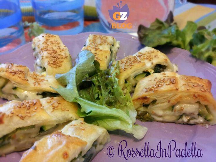 Sfogliate con zucchine e fontina