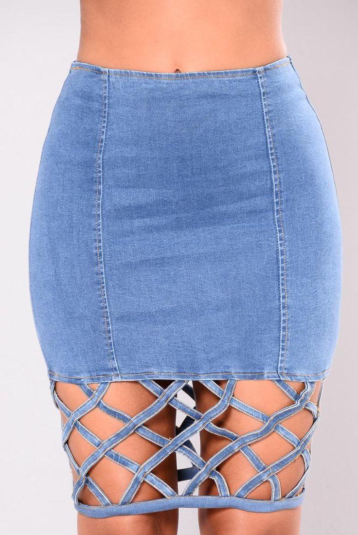 Elektra Denim Skirt - Blue Denim