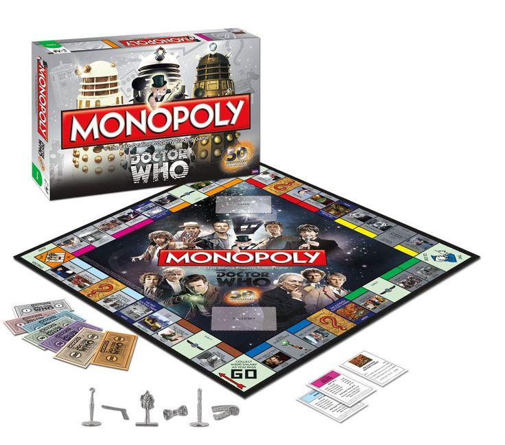 Juego de mesa Monopoly Doctor Who. 50º Aniversario, versión en inglés