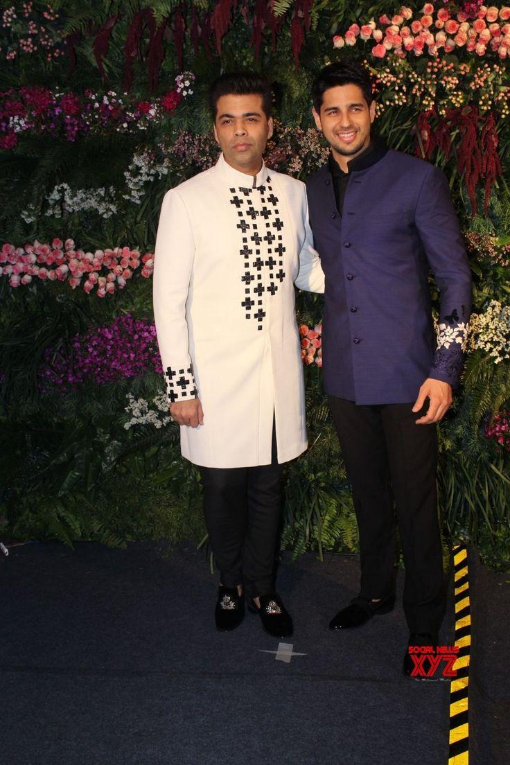 Mumbai: Virat Kohli  Anushka Sharma's wedding reception  Karan Johar and Sidharth Malhotra - Social News XYZ