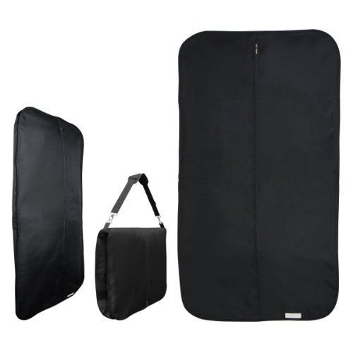 Hangerworld Black Heavy Duty Waterproof Travel Garment Suit CARRY Cover Bag  Designed to Avoid Garment Creasing 44 * You can get more details by clicking on the image.