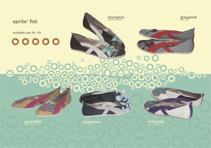 Produk detail Sepatu Mimosabi Sprite Flat :      bahan dasar kanvas     aplikasi perca dan kulit suede     avaliable size 36-44