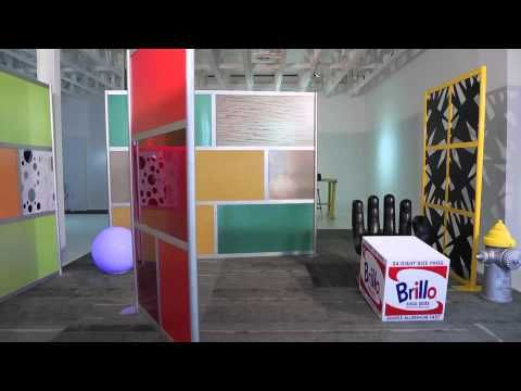 check out this funky time lapse of room divider screens dancing with modern eclectic objects - Loftwall